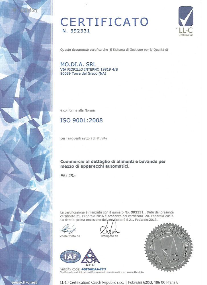 certificazione ISO 9001 2008